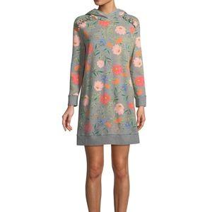 kate spade New York Hooded Sweatshirt Dress Floral